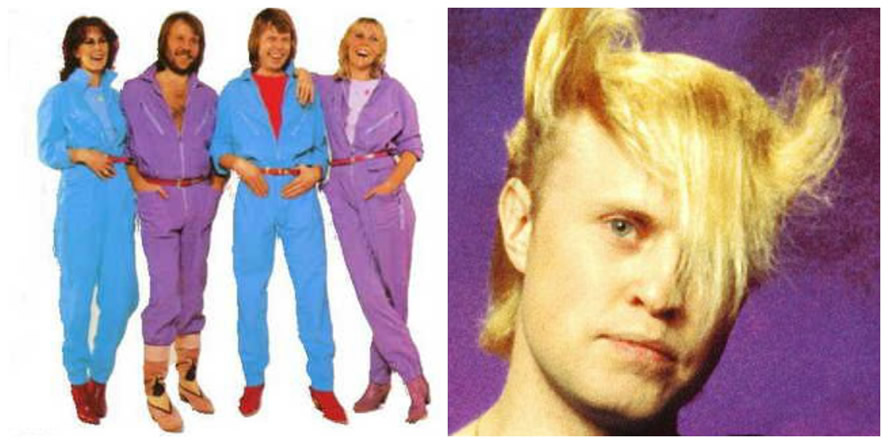 How to dress like the 80s men clipart.