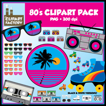 Clip Art: 80's Clipart Pack.