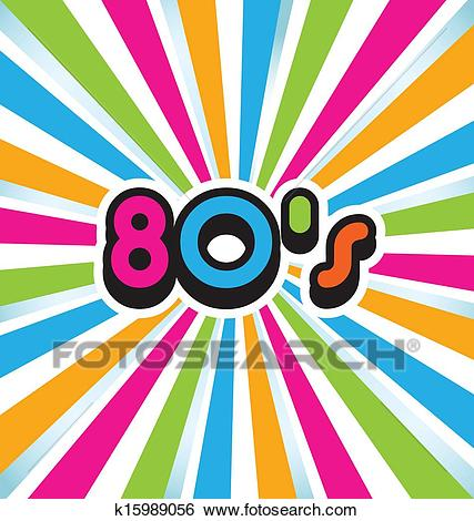 80s vector pop art background Clip Art.