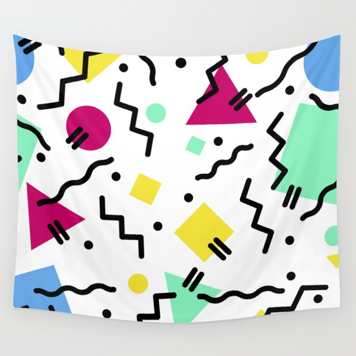 80s Confetti Wall Tapestry by eightiesgirl.