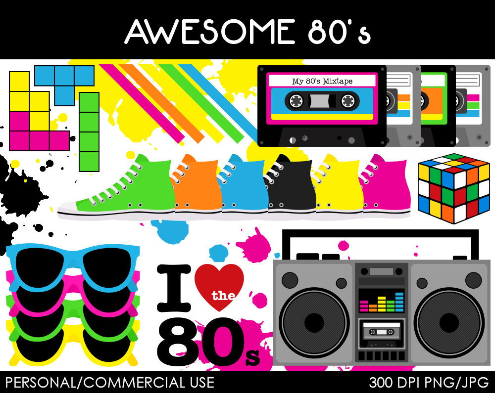 Free 80s clipart 2 » Clipart Station.