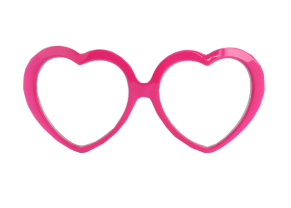 Pink Glasses Clipart.