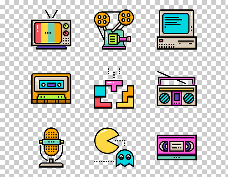 Computer Icons 1980s , 80s PNG clipart.