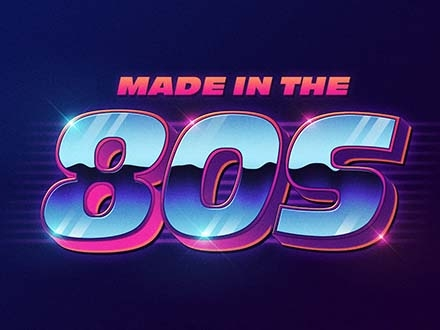 80s Retro Text Effect (PSD).
