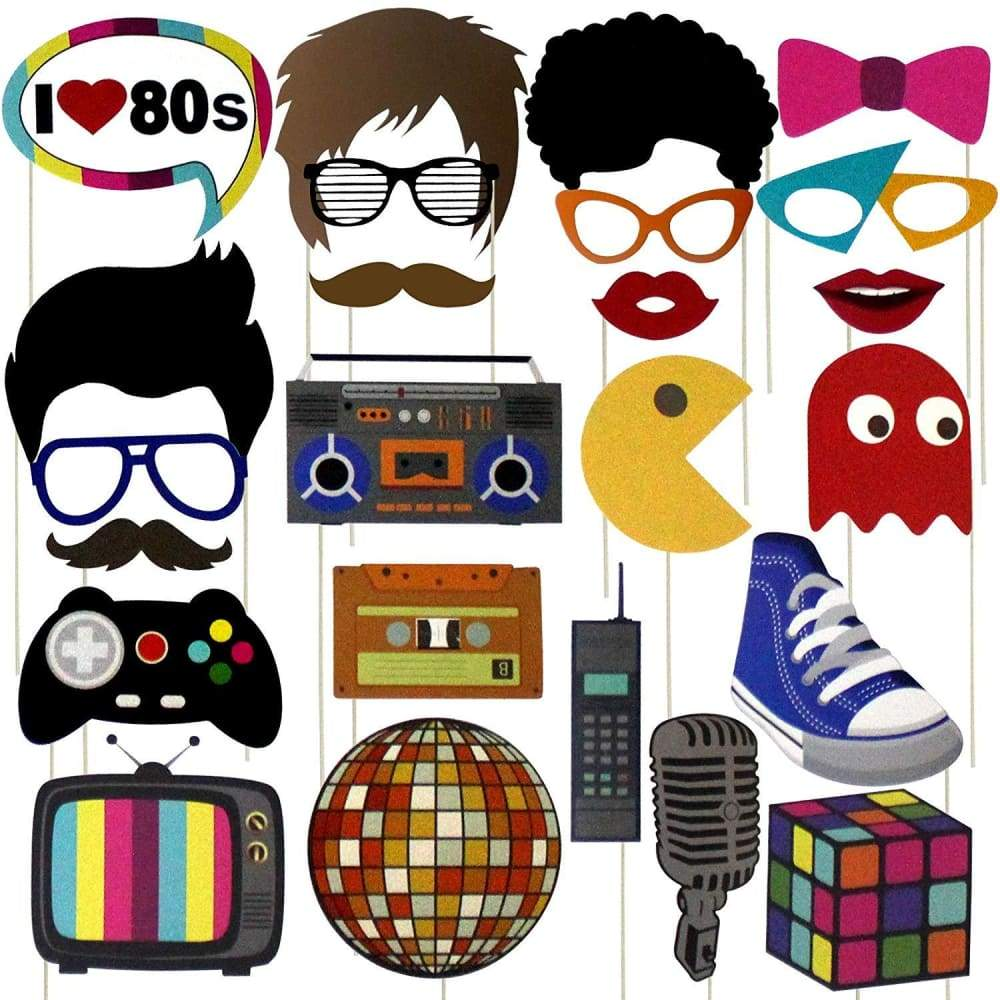80s Party Photo Booth Props (24ct).