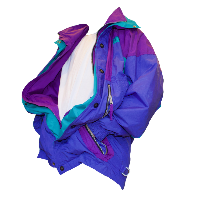 free to use, 80s color block jacket (FOR SALE ON DEPOP @LIZARDPALACE.