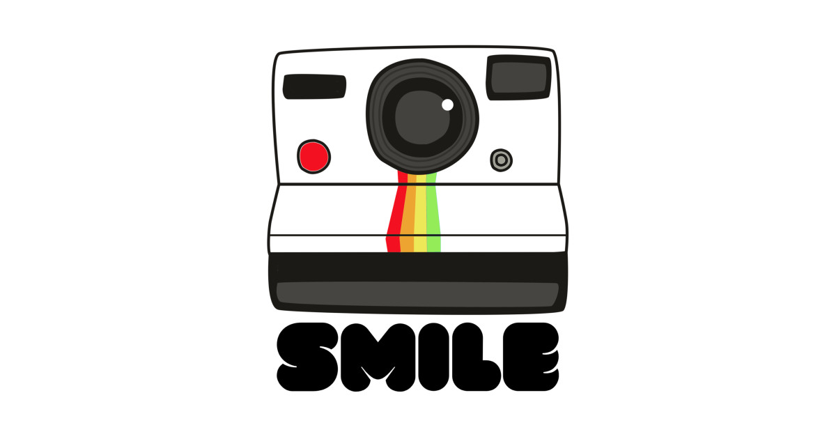 Instant Camera Smiles for the 70s and 80s by tshirtsbycontentarama.
