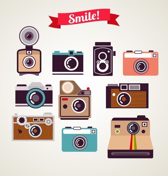 Cool camera icons.