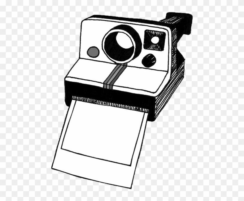 Polaroid Camera Clipart Black And White.