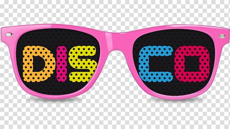 Sunglasses Disco Ottawan 1980s, glasses transparent.