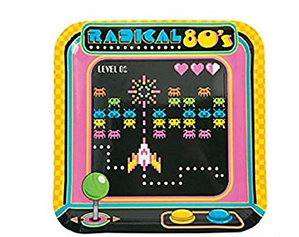 Amazon.com: 80's Arcade Video Game Themed Paper Party Dinner Plates.
