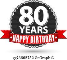 80Th Birthday Clip Art.