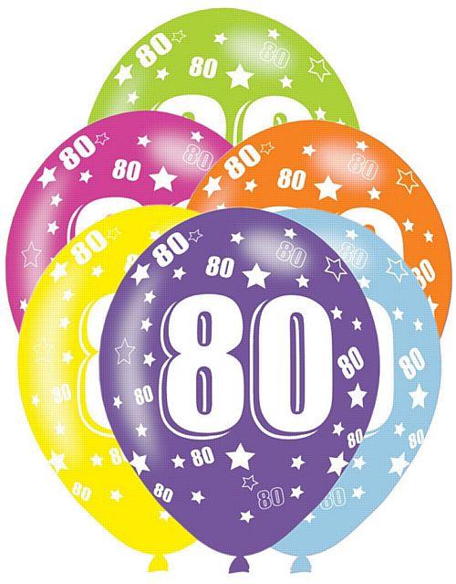 80th Birthday Latex Balloons 11