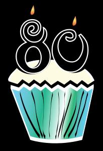 36+ 80th Birthday Clip Art.