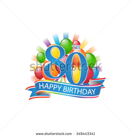 49+ 80th Birthday Clip Art.