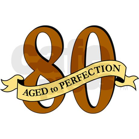 80th Birthday Clipart.