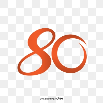 80th Png, Vector, PSD, and Clipart With Transparent Background for.