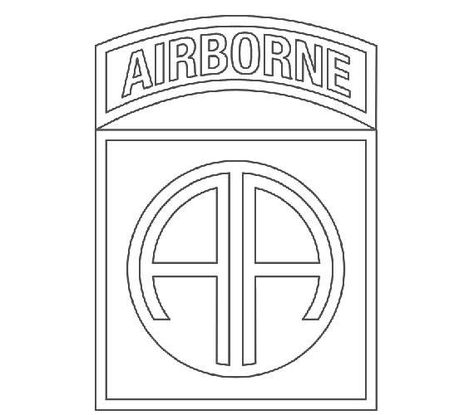 US Army 82nd Airborne Division Patch Vector Files, dxf eps.