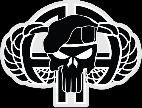 82nd Airborne Punisher Black.