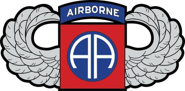 82nd Airborne Parachutist Badge Jump Wings Decal Car Truck Yeti Various  Sizes.