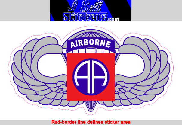 82nd Airborne Division Fort Bragg Army Wings Bumper Sticker Vinyl Window  Decal.