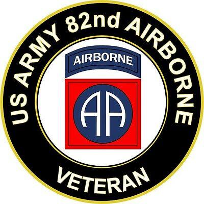 UNITED STATES ARMY Veteran 82nd Airborne Decal Window Bumper Sticker.