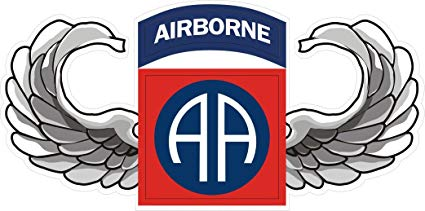 MilitaryBest US Army 82nd Airborne Jump Wings Decal Sticker 3.8