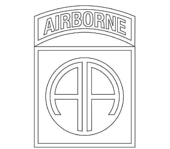 US Army 82nd Airborne Division Patch Vector Files, dxf eps svg ai.