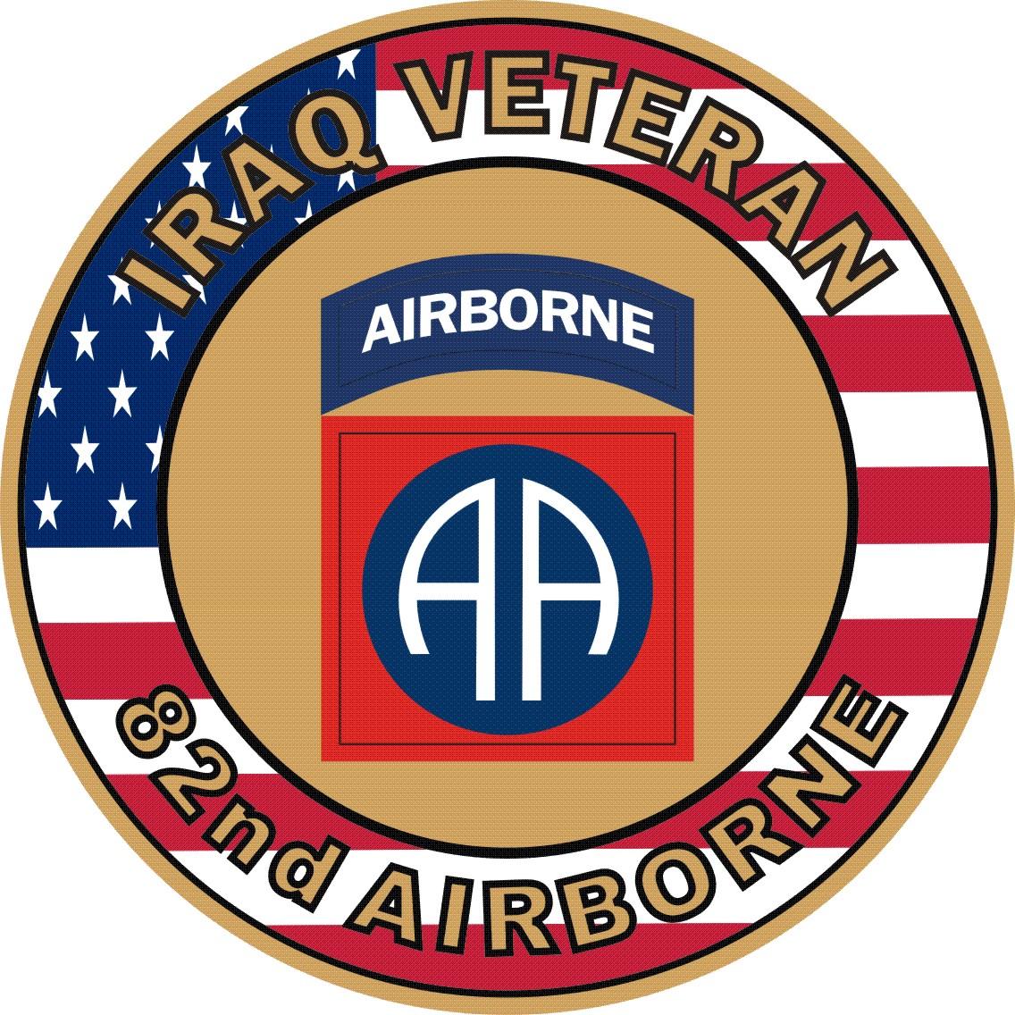 Airborne Iraq Veteran Decal Sticker.
