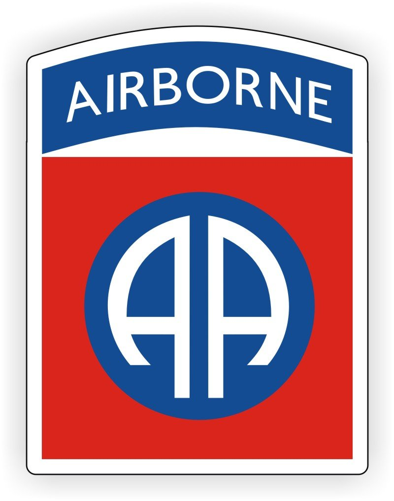 82nd Airborne Division Hard Hat Decal.