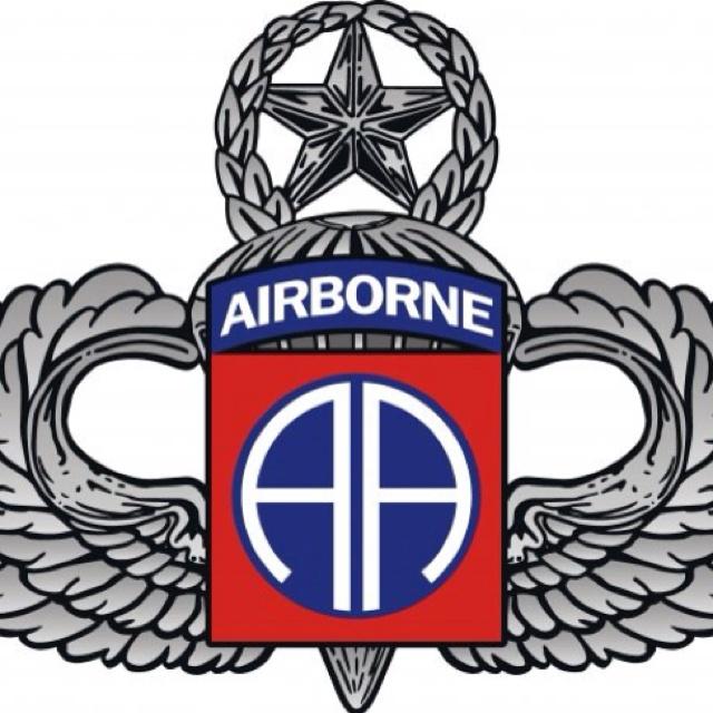 Airborne logo clipart.