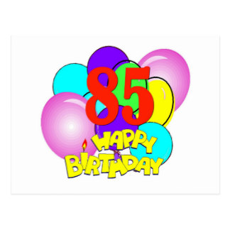 85th birthday clipart colorful happy birthday number 85 flat.