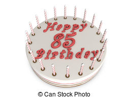 Happy birthday for 85th birthday Illustrations and Stock Art.