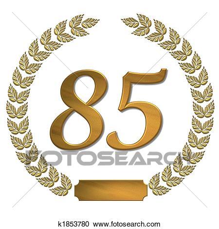 Golden laurel wreath 85 Clipart.