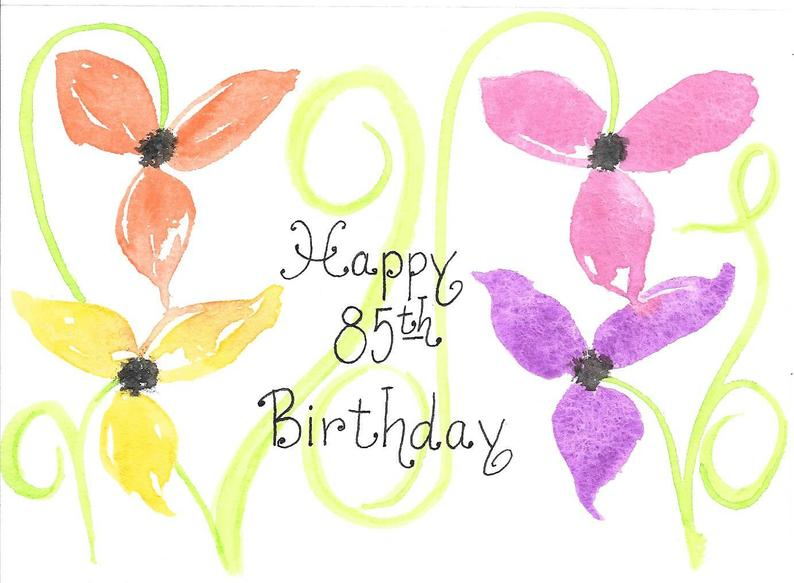 85th Birthday Card PERSONALIZED for FREE for Mom Grandma Friend Sister  Friend Original Hand.