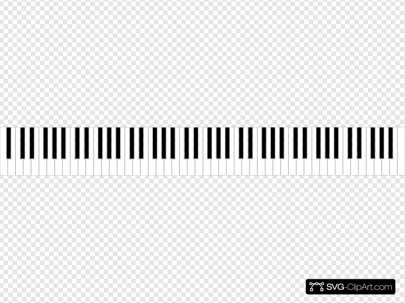 Standard 88 Key Piano Keyboard Clip art, Icon and SVG.