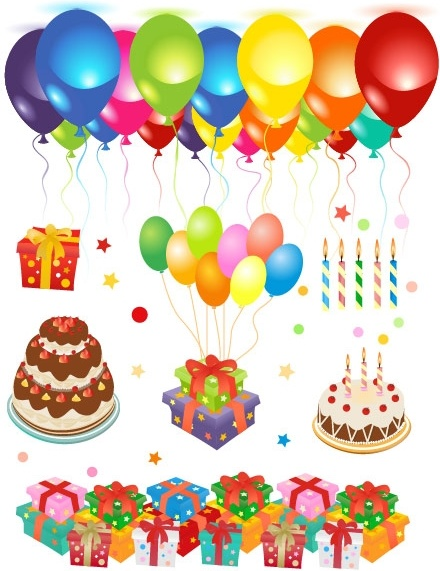Happy birthday clip art Free vector in Encapsulated.