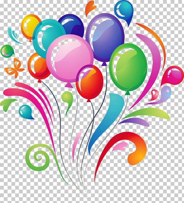 Birthday cake Balloon , balloon PNG clipart.