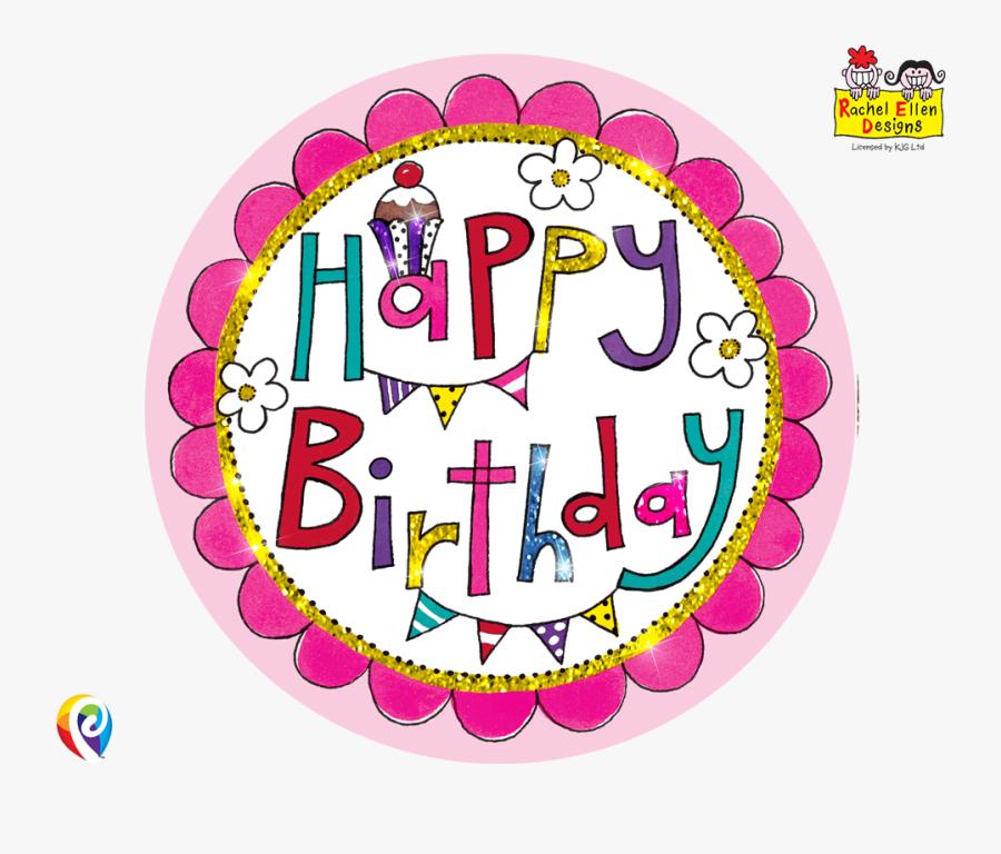 Happy Birthday Badge , Free Transparent Clipart.