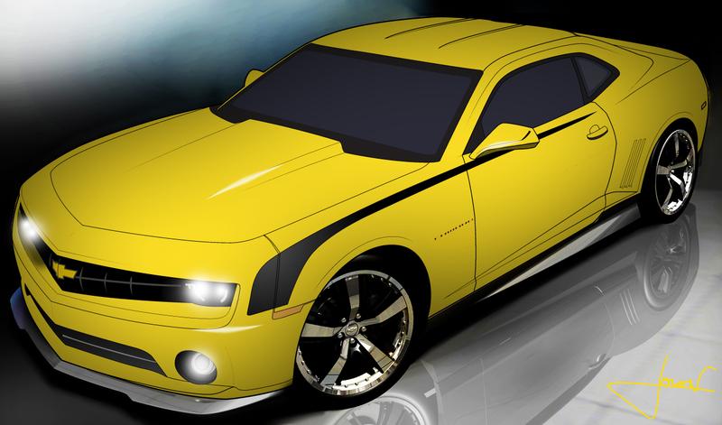 Camaro Vector Clipart Graphic.