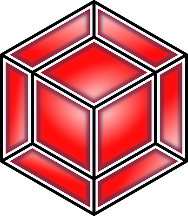 Free vector graphic: Tesseract, Cube, Red, 8.