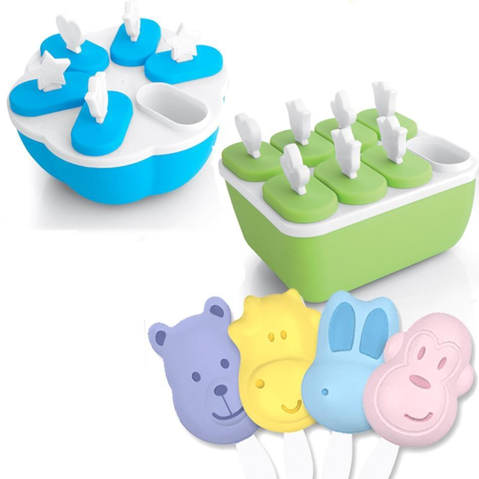 Best 4/6/8 Cell Frozen Ice Cream Pop Mold Popsicle Maker Lolly.