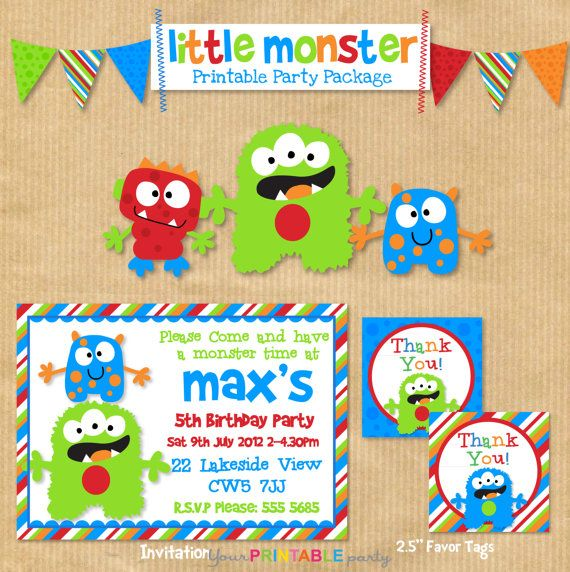 DELUXE Printable Boys Birthday Party Package by.
