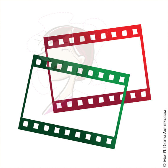 8mm Film Filmstrip Photographer Frames Clip Art por MayPLDigitalArt.