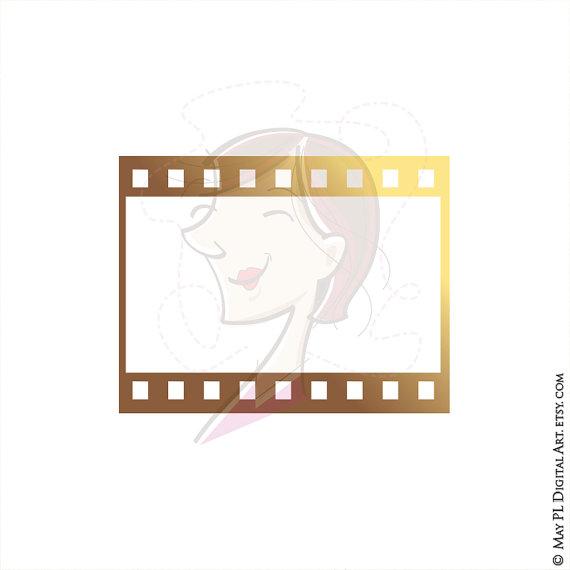 8mm Film Filmstrip Photographer Frames Clip Art by MayPLDigitalArt.