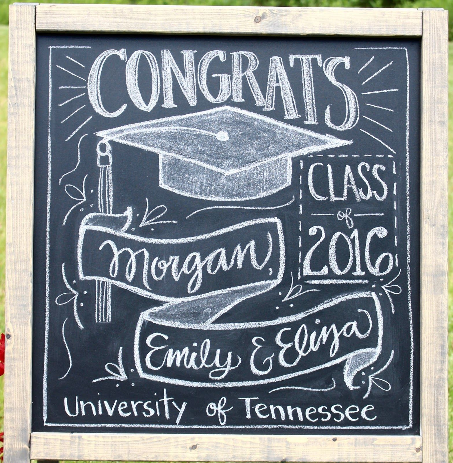 Graduation Party chalkboard decoration idea : Miss Welden.