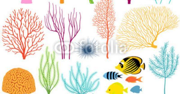 Vector: Underwater design elements.