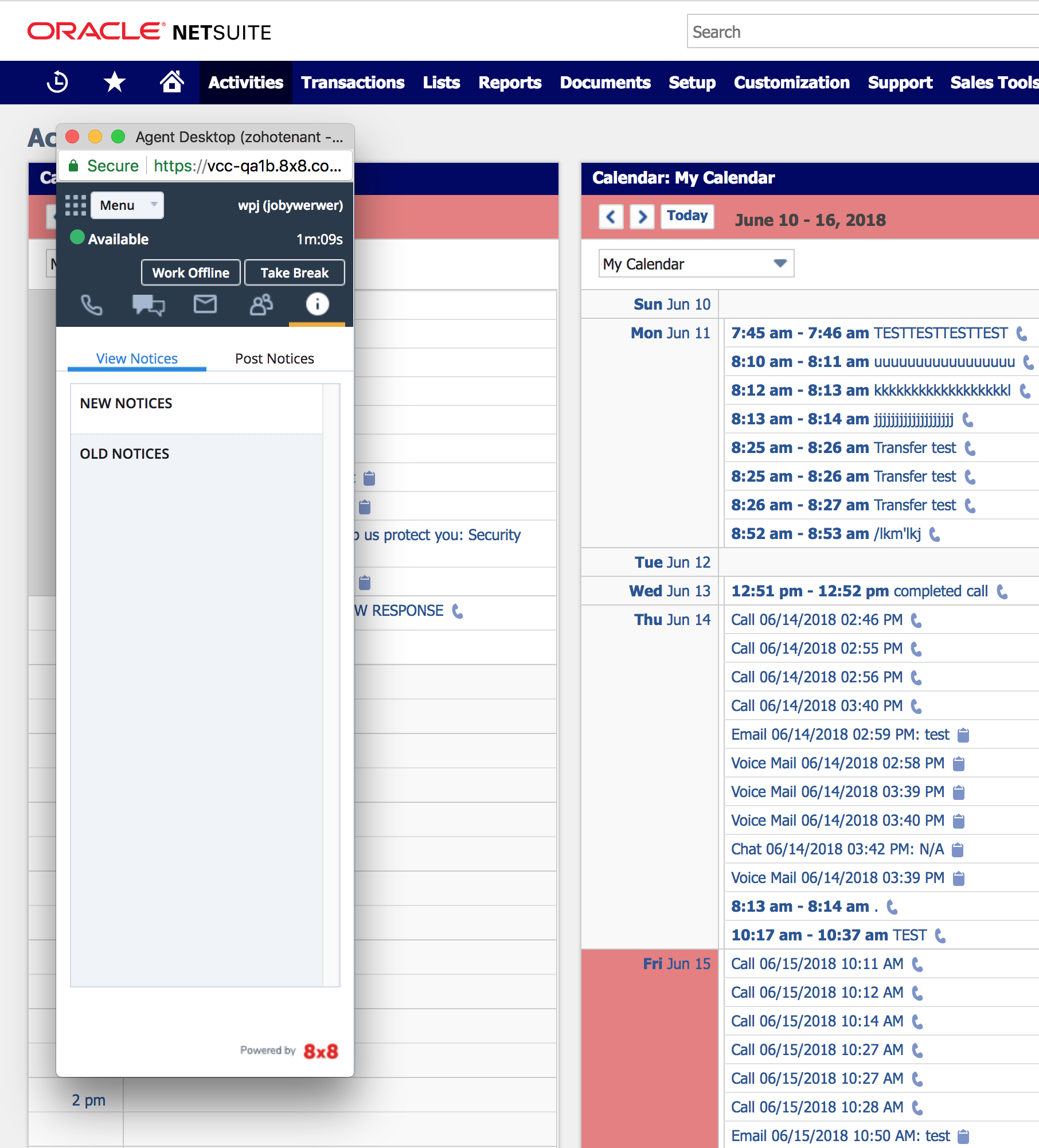 Netsuite Integration with 8x8 Virtual Contact Center.