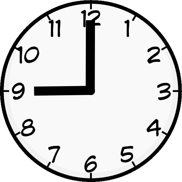 Clock Clipart 9 00.