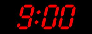 9:00 Black Red Clip Art at Clker.com.